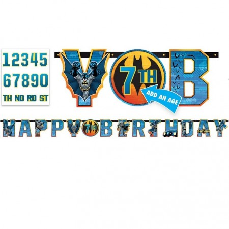 BATMAN HAPPY BIRTHDAY BANNER KIT
