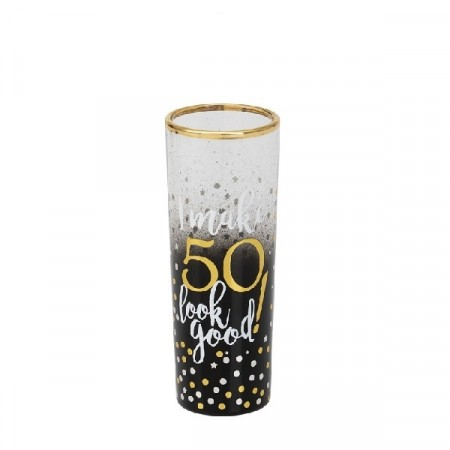 BLACK & GOLD SHOT GLASS 50