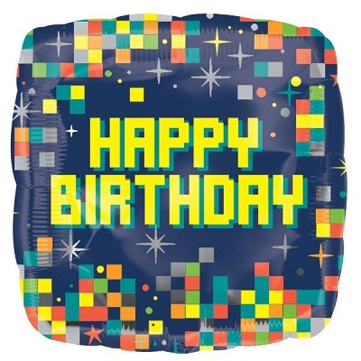 PIXEL HAPPY BIRTHDAY FOLIEBALLONG