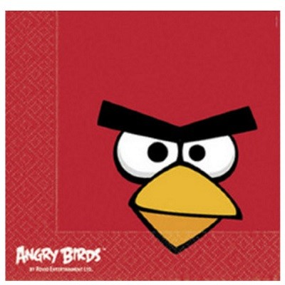 ANGRY BIRDS SERVIETTER - RED