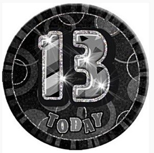 BLACK DAZZLING 13 BADGE