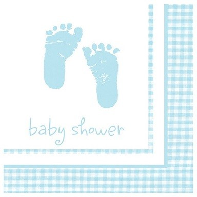 BLUE BABY FEET SERVIETTER