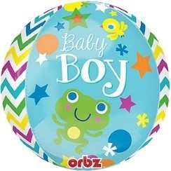 BABY BOY ORBZ FOIL BALLOON