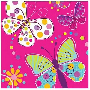 BUTTERFLY SPARKLE SERVIETTER