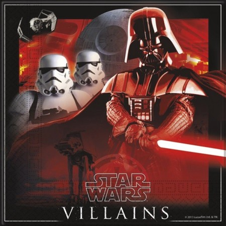 STAR WARS HEROES & VILLAINS SERVIETTER