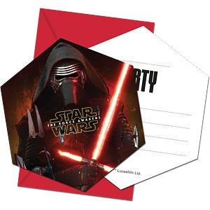 STAR WARS THE FORCE AWAKENS INVITASJONER