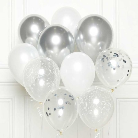 SILVER BALLOON KIT