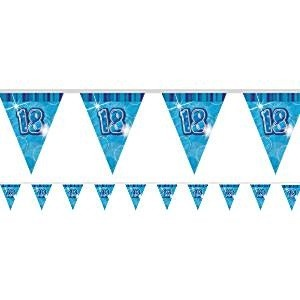 BLUE DAZZLING 18 BANNER FLAGG