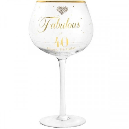 FABULOUS AT 40 GIN GLASS