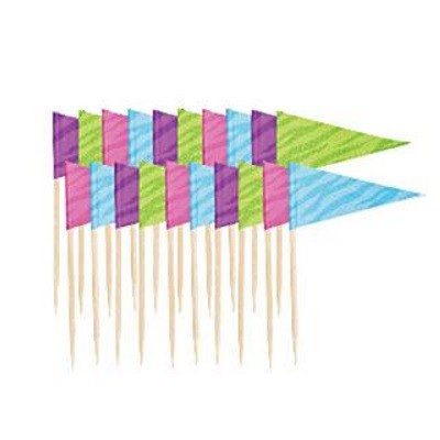 PASTEL FLAG PICKS (20-pk)