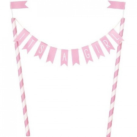 ITS A GIRL KAKEPYNT (bunting)