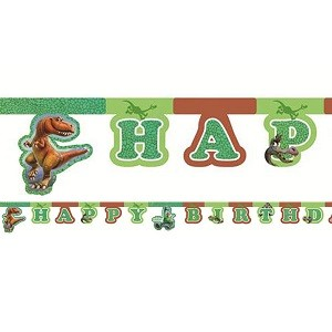 DEN GODE DINOSAUR HAPPY BIRTHDAY BANNER