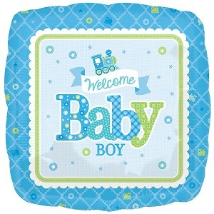 WELCOME BABY BOY FOLIEBALLONG