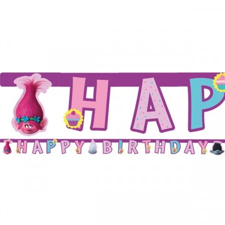 TROLLS HAPPY BIRTHDAY BANNER