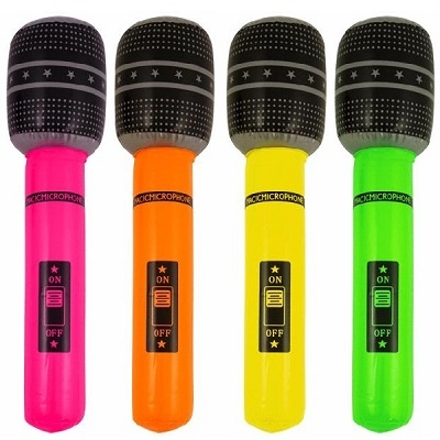 Oppblåsbar mikrofon Festutstyr